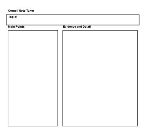 cornel notes template word cornell notes template 51 free word pdf format