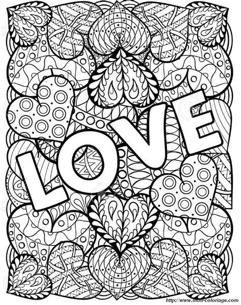 coloriage de pour adultes dessin saint valentin pour les jolis amoureux  colorier