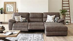 Jenson 3 seater fabric recliner sofa with chaise by for Sectional sofa with bed and recliner