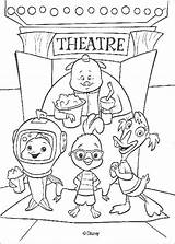 Chicken Coloring Theater Pages Friends Disney Hellokids sketch template