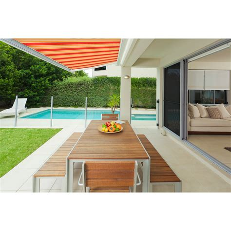 advaning  slim series  ft   ft light weight manual retractable patio awning reviews