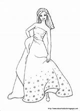 Barbie Coloring Pages Princess Little Printable Sharp Dad She sketch template
