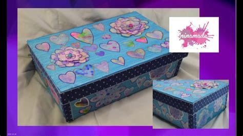 diy caja de zapatos decorada decorated shoebox