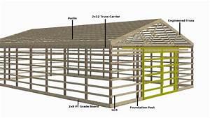 pole barn building plans 30x40 pole building plans home With 30x40 pole barn blueprints