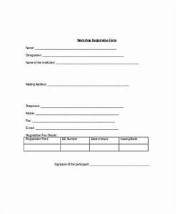 Registration form template 9 free pdf word documents for Sample workshop registration form template