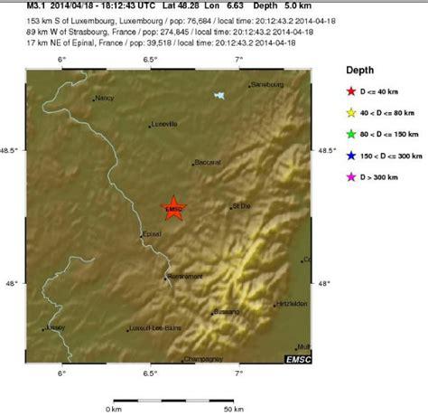 tremblement de terre dans les vosges avril 2014