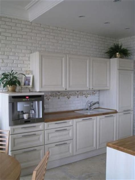 Faux Brick In Kitchen  Brick Wallpaper  Pinterest