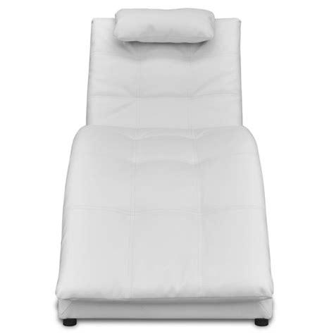 chaise cuir blanc acheter chaise longue en cuir artificiel blanc avec