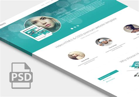 10 free website psd templates graphicsfuel