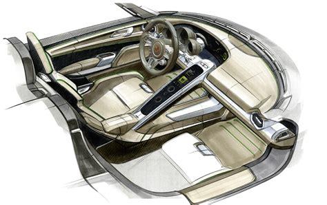 Porsche Plug-in Hybrid 918 Spyder Sketch Interior