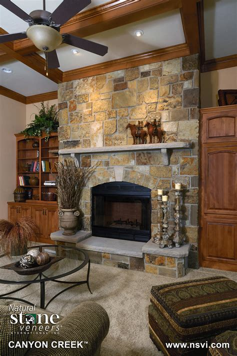 canyon creek fireplace natural stone veneers