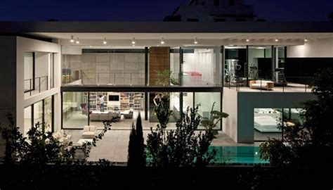Bauhaus Style Home With Interior Glass Walls by Contemporary Bauhaus Style Home In Haifa