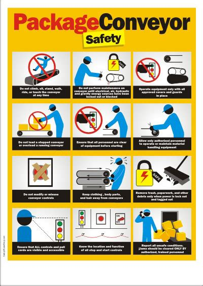 safety poster package conveyor safety safety poster shop