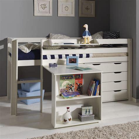bureau de lit pack lit enfant bureau commode 4 tiroirs quot pino quot blanc