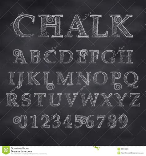 chalky font stock vector image