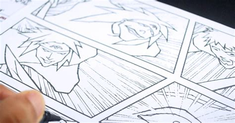 manga  comic  creating comic book panels  drawing