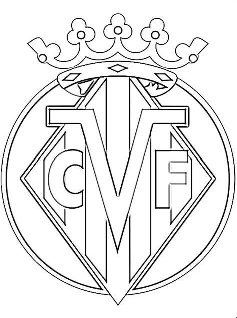 Kleurplaat Spaanse Vlag by Villarreal Cf Logo Kleurplaat Gratis Kleurplaten