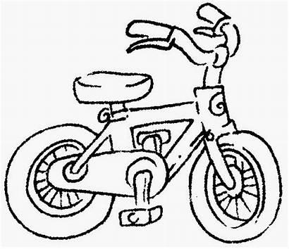 Hitam Putih Gambar Kenderaan Basikal Kartun Drawing