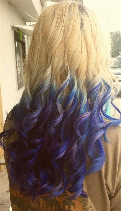 Blonde To Purple Blue Ombre Hairstyles How To