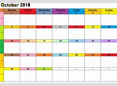 August & September & October 2018 Printable Calendar