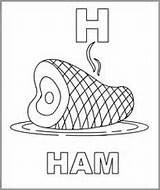 Ham Coloring Pages Letters Hams Letter Lettering Alphabet Dossey Linda Character Drawing Pinned sketch template
