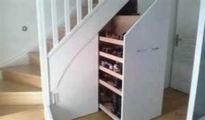 Placard Coulissant Sous Escalier Leroy Merlin : meuble etagere blanc belle escalier galerie avec en ikea ~ Dode.kayakingforconservation.com Idées de Décoration