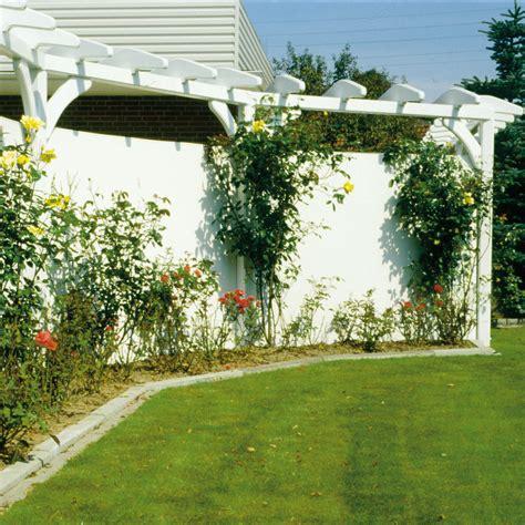 Garten Sichtschutz Kunststoff by Sichtschutzzaun Pvc Kunststoff Montageset R 252 Wei 223