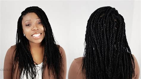 Senegalese Twists / Rope Twist Finished Results Tutorial