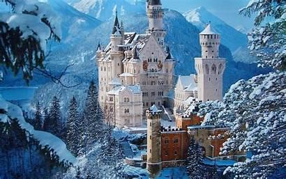 Winter Backgrounds Desktop Wallpapers Castle