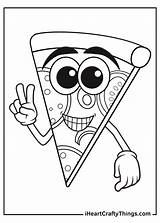 Pizza Coloring Updated sketch template