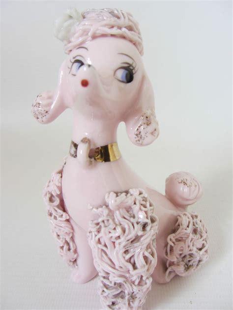 retro   pink ceramic poodle kitsch vintage dog