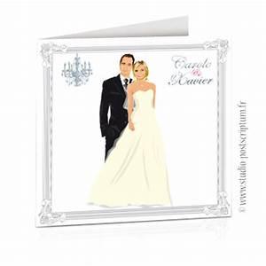 Dessin Couple Mariage Noir Et Blanc : faire part de mariage original vintage romantique ~ Melissatoandfro.com Idées de Décoration