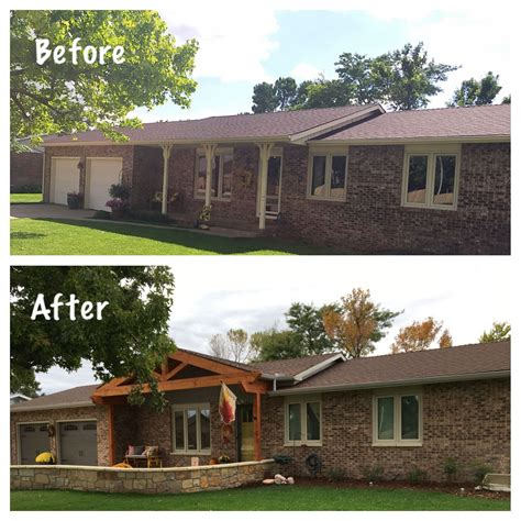 1970 s before and after ranch style exterior update