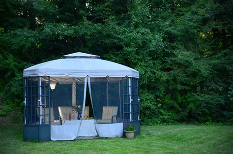 patios and decks for small backyards 27 gazebos with screens for bug free backyard relaxation