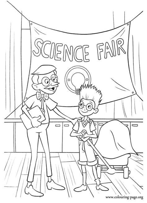 meet  robinsons lewis   willerstein   science fair coloring page