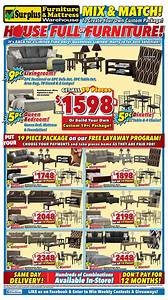 Surplus furniture and mattress warehouse canada flyers for Surplus furniture and mattress warehouse london