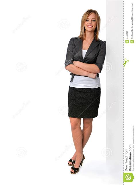 young woman standing royalty  stock  image