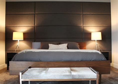 Headboard Wall Panels by Bedroom Luxury Bedroom Decor With Upholstered Wall Panels