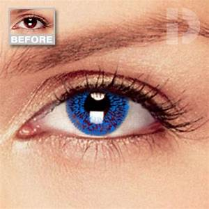 Sapphire Blue Coloured Contacts | Cheap Colored Contact ...