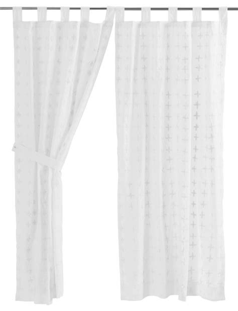Willow Tab Top Short Panel - Curtains - by VHC Brands