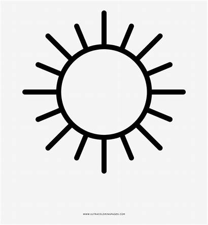 Sun Coloring Outline Pages Ultra Nicepng