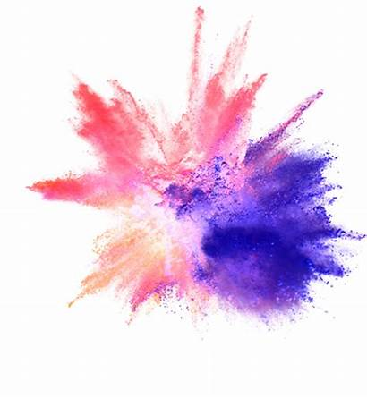 Explosion Powder Polvo Transparent Colores Holi Clipart