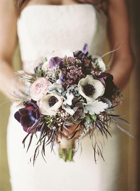 plum wedding bouquets