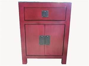 Table De Chevet Rouge : meubles archives aux merveilles d 39 asie ~ Preciouscoupons.com Idées de Décoration