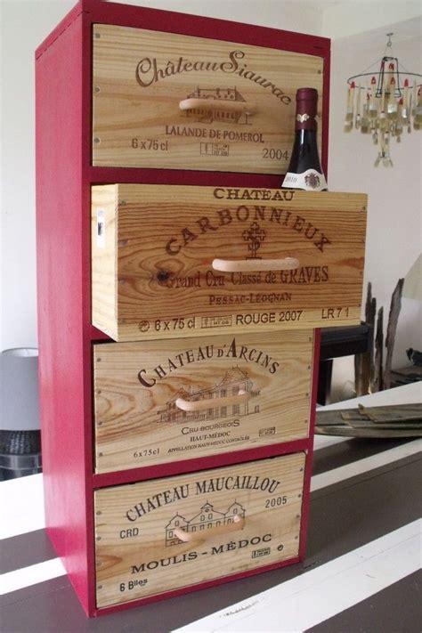 vin de cuisine des planches bois des caisses de vin 1 meuble dans un