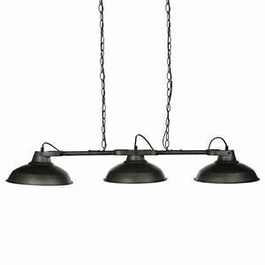 Suspension 3 Lampes : lampe suspension m tal 3 t tes noir ~ Melissatoandfro.com Idées de Décoration