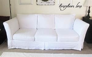 how to make a slipcover part 2 slipcover reveal With how to make sectional sofa covers
