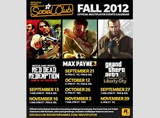 Presenting the Fall 2012 Social Club Multiplayer Events