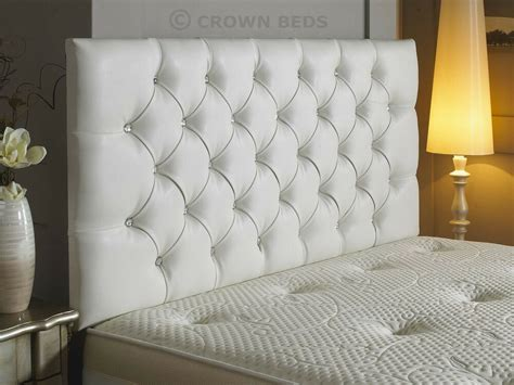 Cheap Leather Headboards by New Diamante Faux Leather Headboard In 3ft 4ft 4ft6 5ft