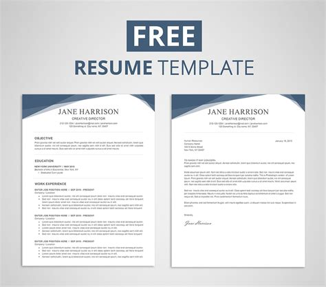 resume template  word photoshop graphicadi